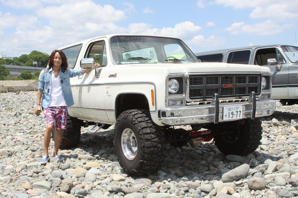 77年 GMC Jiimmy Highsierra(GMC ジミー ハイシエラ) 35X14.5R15タイヤ