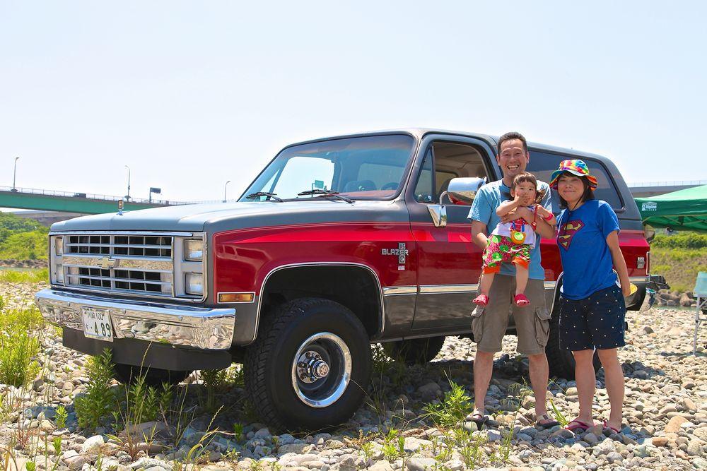 神奈川県よりご家族で参加してくださったM様。 今年はお嬢さまと一緒で`87 Chevy K-5 Blazer Silverado(87年 シボレー K5ブレーザー シルバラード)でした。